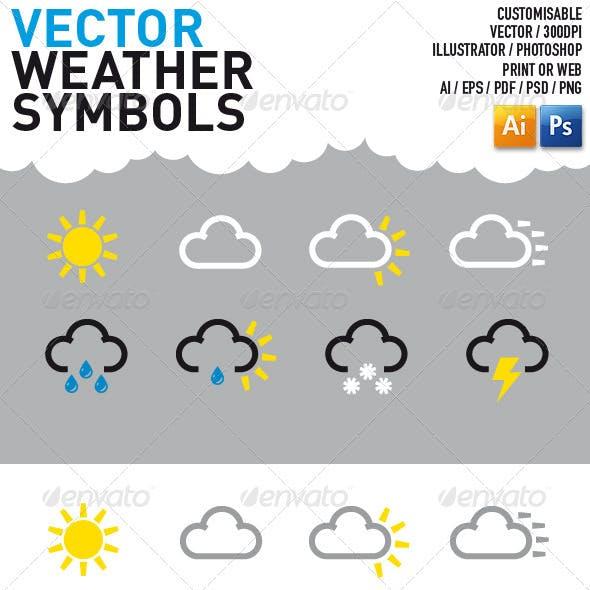 Vector Weather Symbols Graphics Designs Template
