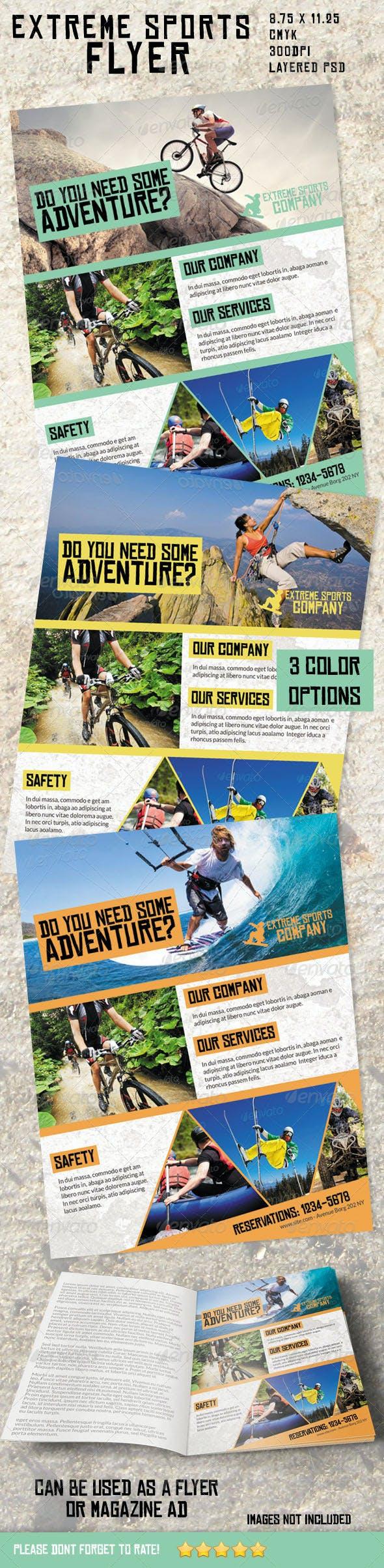 extreme sports flyer magazine ad by ingridk graphicriver. Black Bedroom Furniture Sets. Home Design Ideas