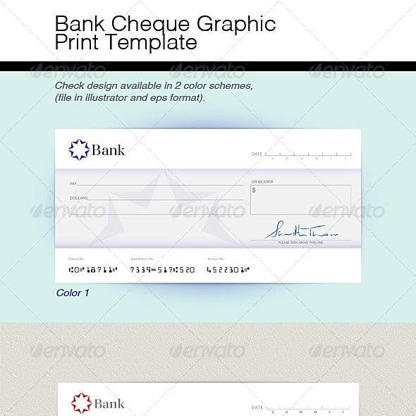 Chequebook Stationery And Design Template From Graphicriver