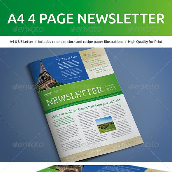 recipe newsletter template from graphicriver