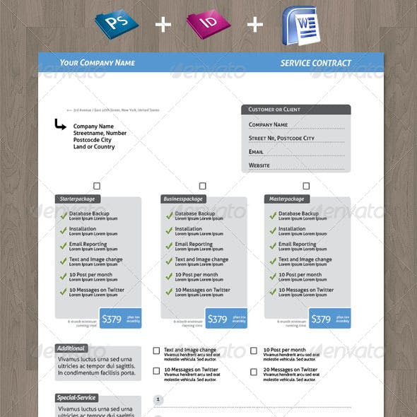 Vertrag Graphics, Designs & Template from GraphicRiver