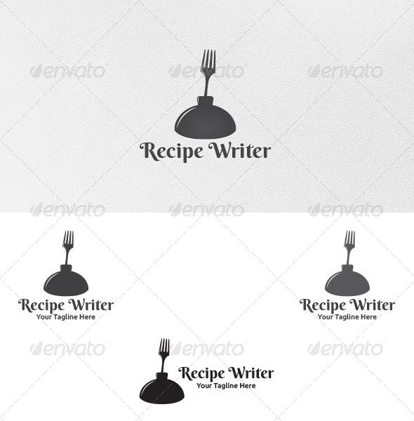 recipe writer logo template by martinjamez graphicriver
