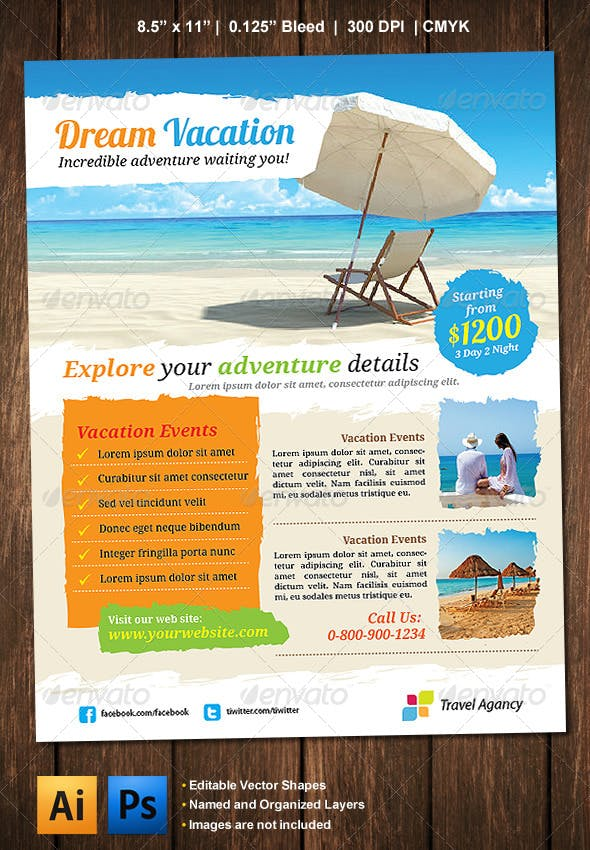 vacation flyer by barisintepe graphicriver