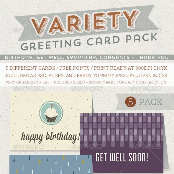 Greeting Card Variety Pack By Everytuesday
