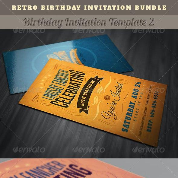 retro invitation templates from graphicriver page 6