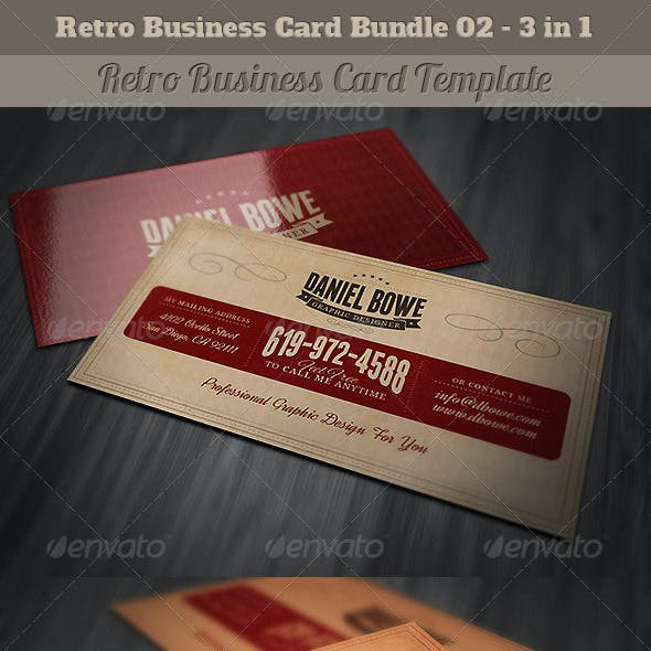 Card And Media Vintage Business Card Templates Designs