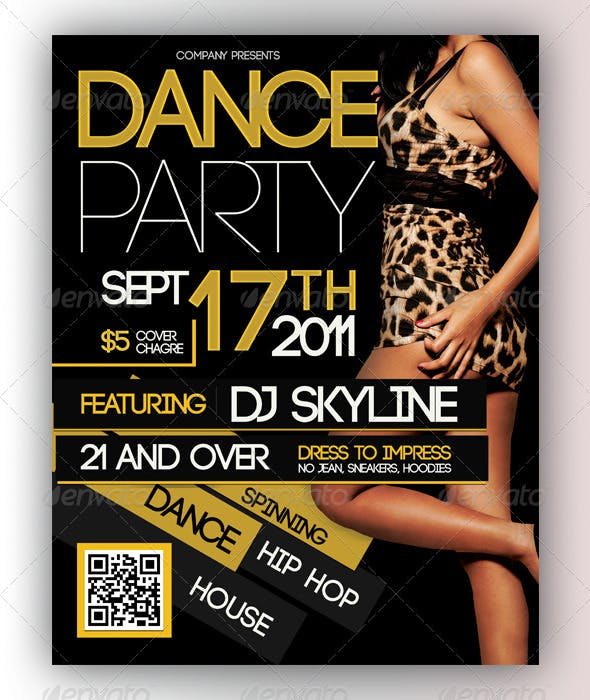 dance party flyer by cre8tivecloud graphicriver