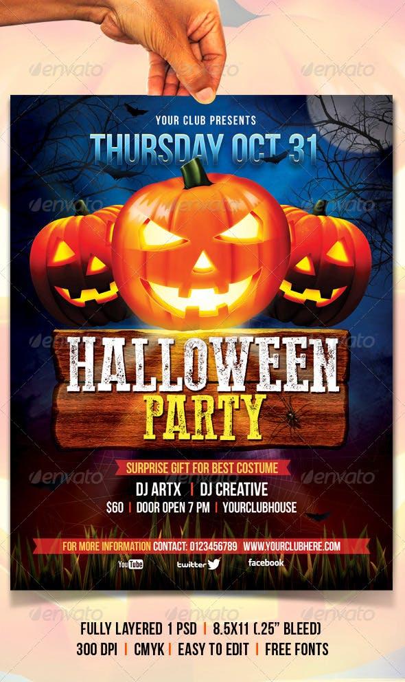 Halloween Flyer By Creativeartx