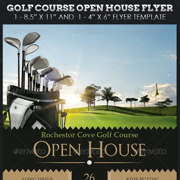 Golf Course Open House Flyer Templates By Godserv Graphicriver