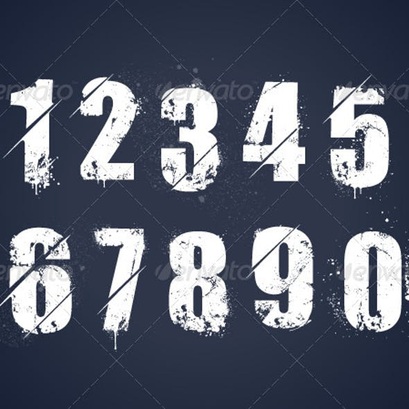 Street art graphics designs templates from graphicriver grunge dirty painted numbers maxwellsz