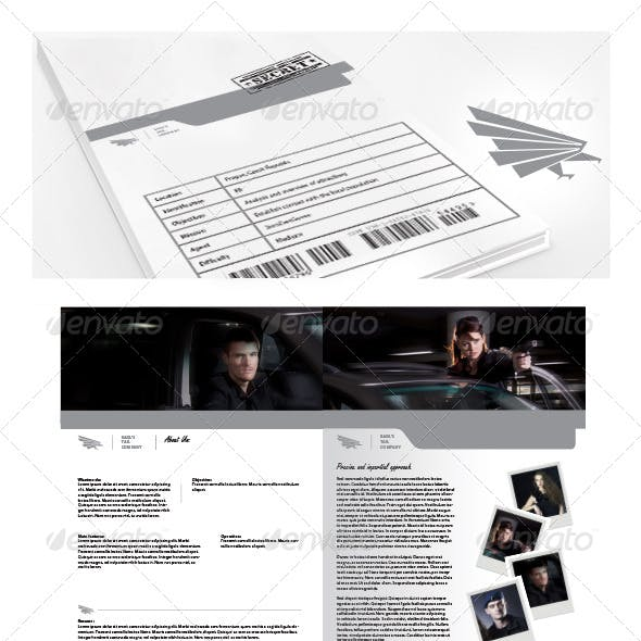 8 page stationery and design template from graphicriver