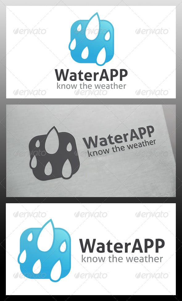 water app logo template by bosstwinsart graphicriver