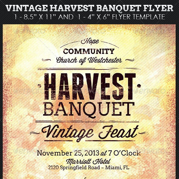 banquet and dance church flyer templates from graphicriver