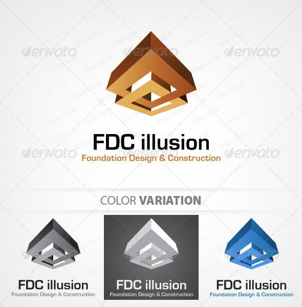 foudation design and construction logo template by wpthms graphicriver