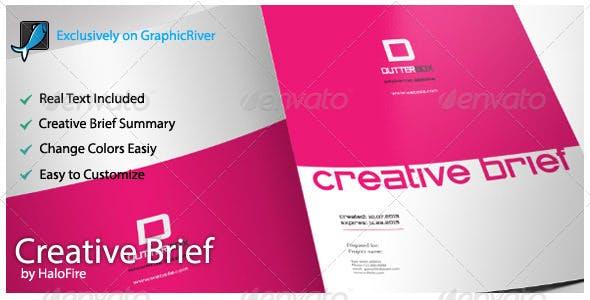 Creative Brief Template By Halofire Graphicriver
