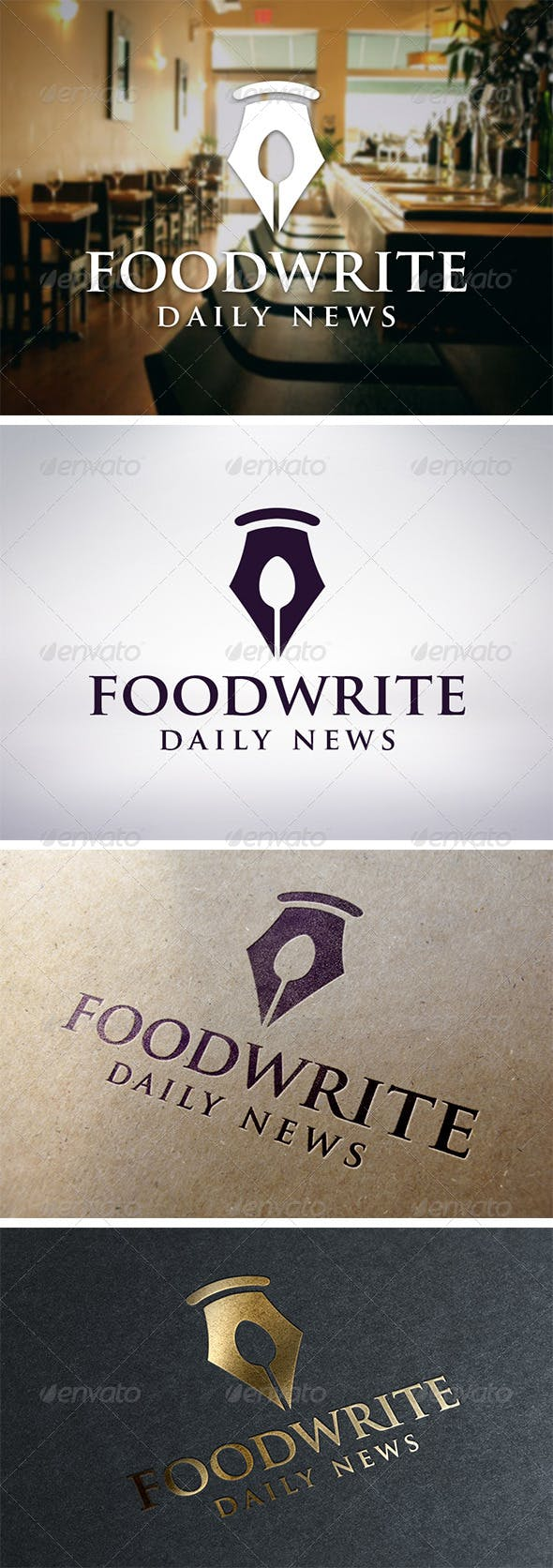 recipe writer logo template by bosstwinsmusic graphicriver