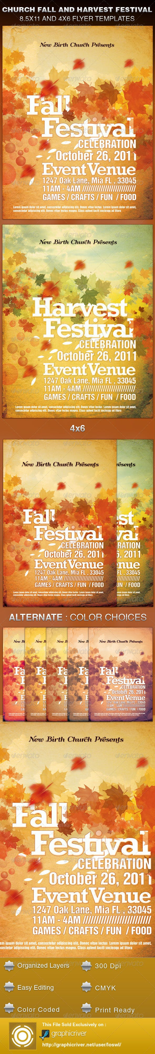 church fall and harvest festival template by loswl graphicriver