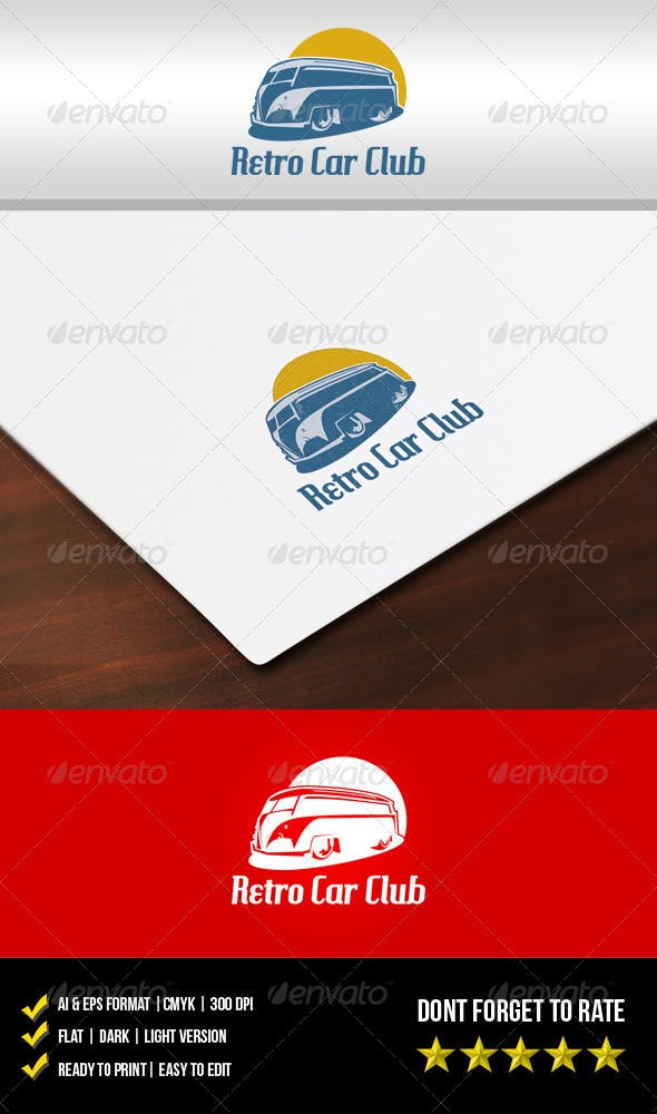 Retro Car Club Logo By Meisuseno Graphicriver