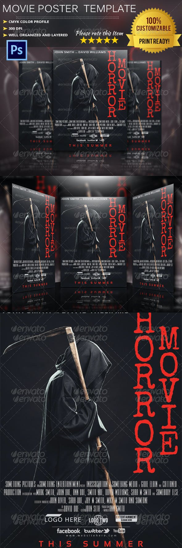 horror movie poster template by pmvch graphicriver