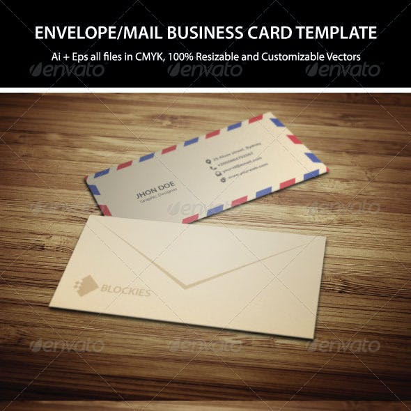 Mail Business Card Template