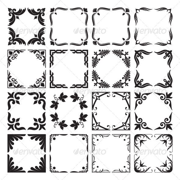 Set Of Decorative Corners And Frames By Infografx Graphicriver