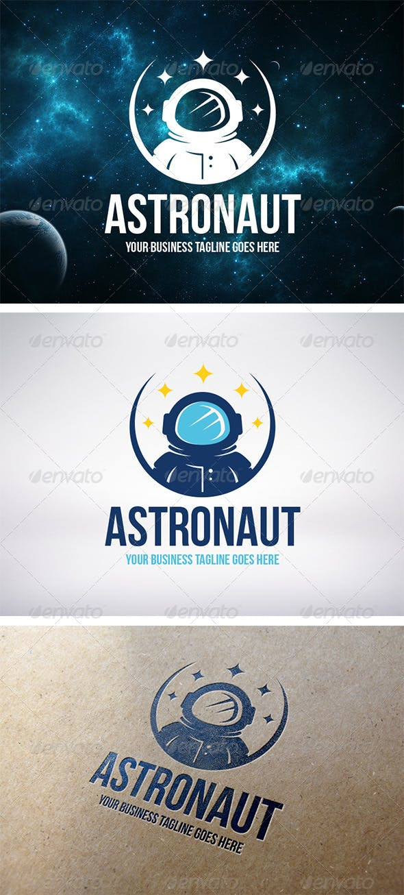 astronaut logo template by bosstwinsmusic graphicriver