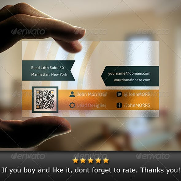 Translucent plastic business card templates designs transparent business card v1 accmission Choice Image