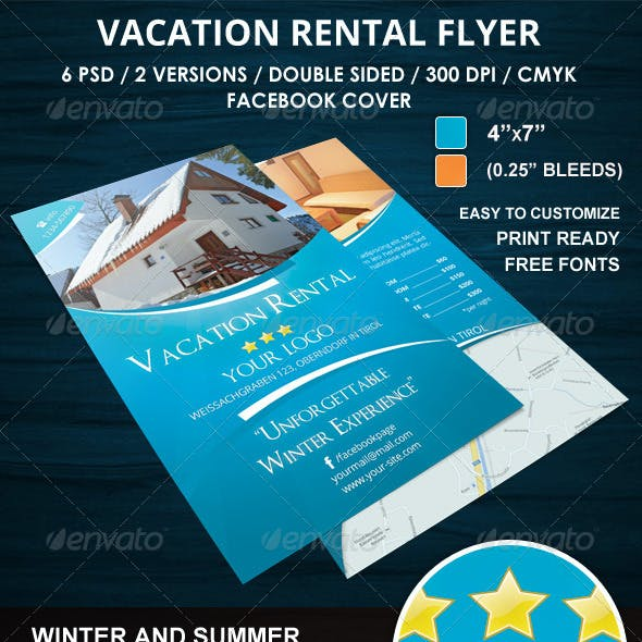 vacation rental flyer by rsplaneta graphicriver