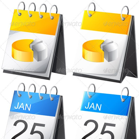 calenders year vectors from graphicriver