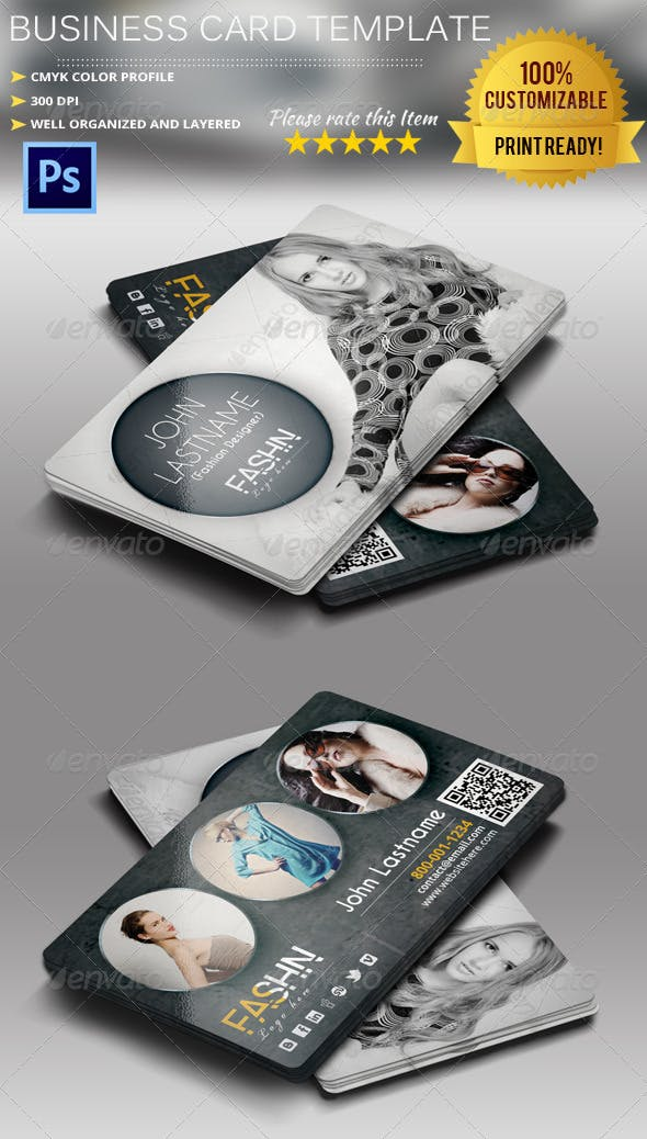 Fashion Designer Business Card By Pmvch Graphicriver
