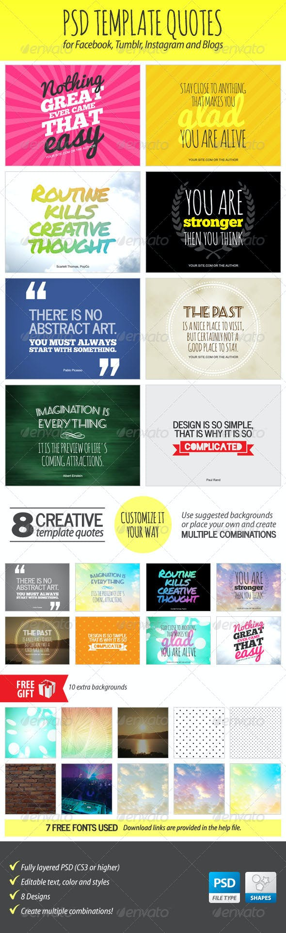 PSD Template Quotes By Stoat