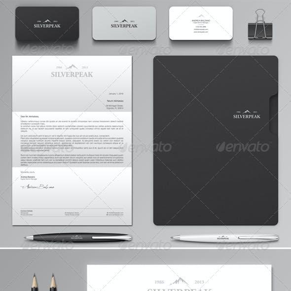 silverpeak stationery set invoice template