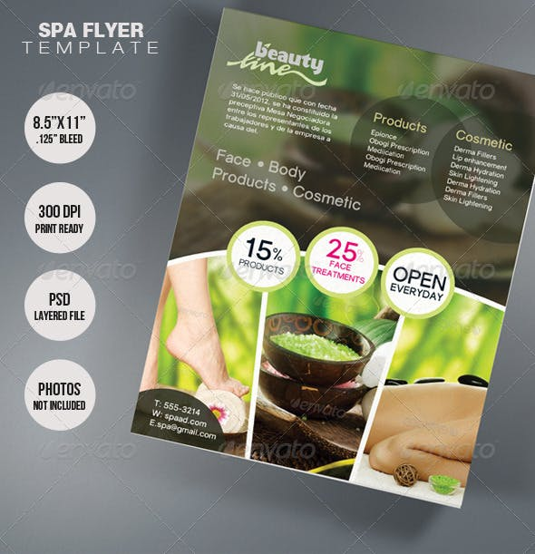 spa flyer template 2 by artkreationz graphicriver
