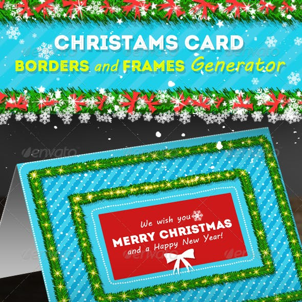 christmas card borders and frames generator by psddude graphicriver