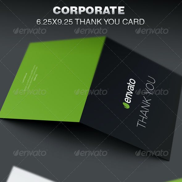 Thank you card graphics designs templates from graphicriver corporate thank you card template cheaphphosting Images