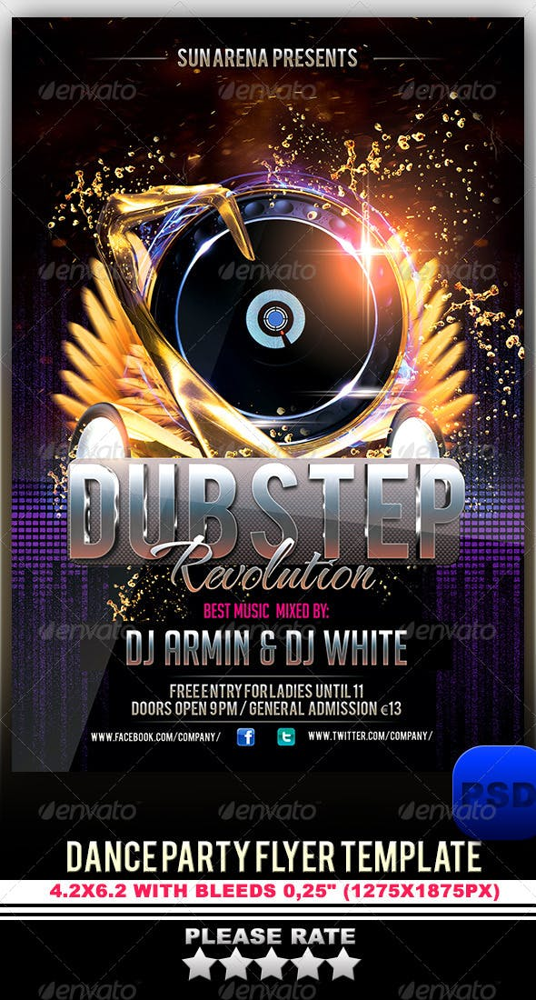 dance party flyer template by stormclub graphicriver