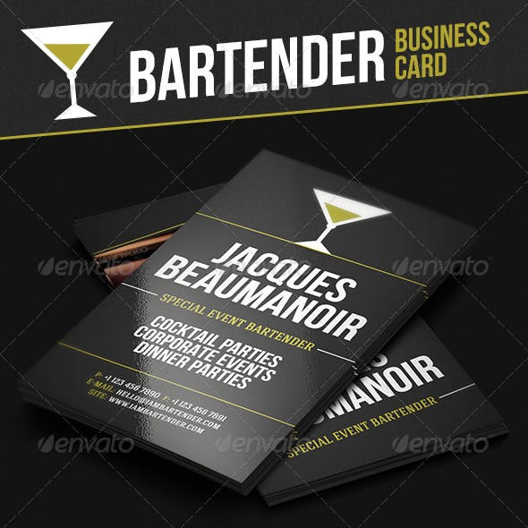 Alcohol Business Card Templates Designs From Graphicriver