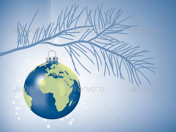Peace on Earth Christmas Ornament - Peace On Earth Christmas Ornament By FreeTransform GraphicRiver