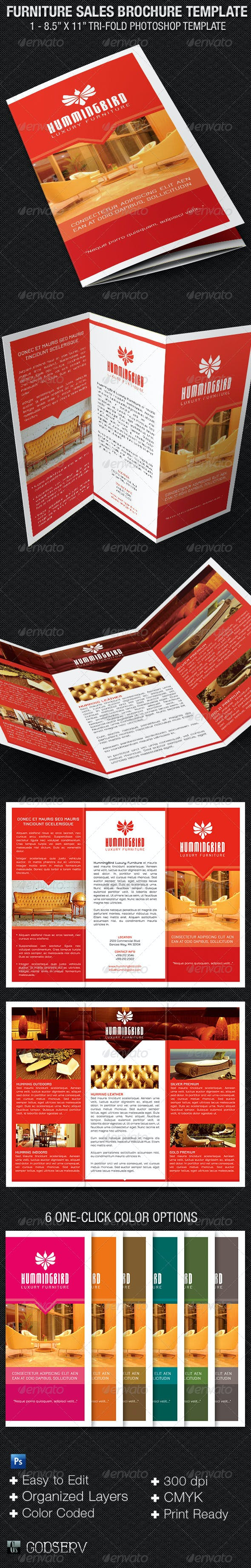 furniture sales brochure template by godserv graphicriver