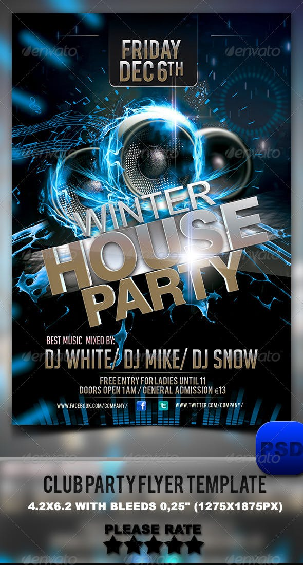 Club Party Flyer Template By Stormclub Graphicriver