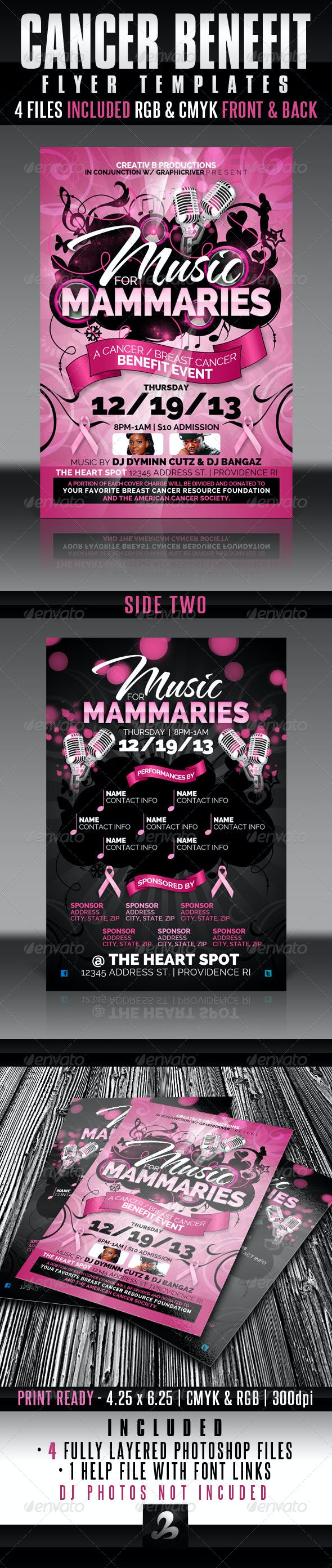 cancer benefit flyer templates by creativb graphicriver