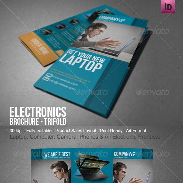 electronic sales brochure tri fold by blogankids graphicriver