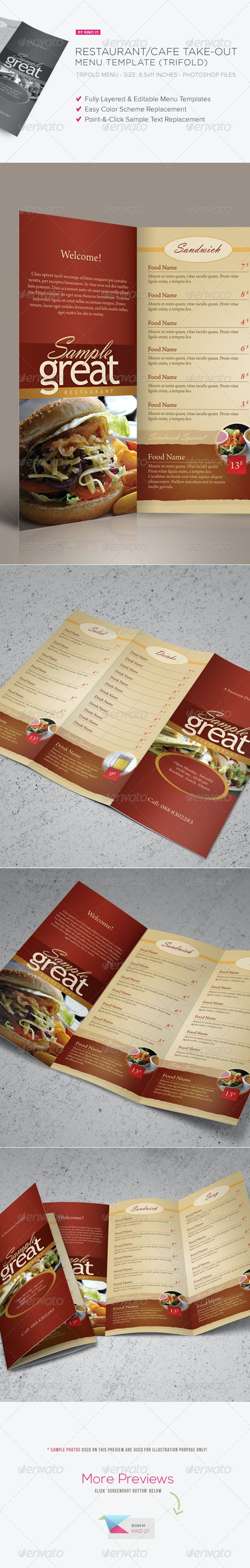 restaurant cafe take out menu template by kinzi21 graphicriver