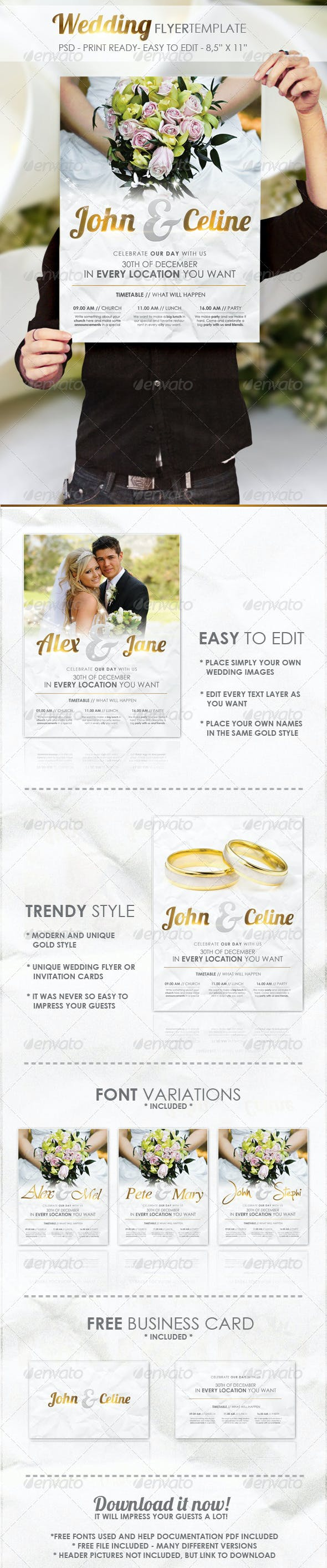 wedding flyer template by foos graphicriver