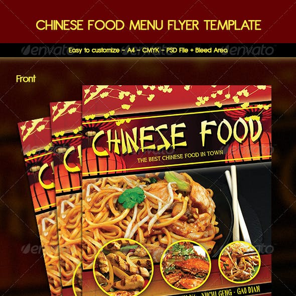 chinese food flyer graphics designs templates
