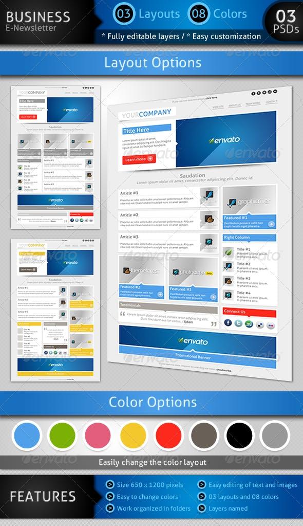 sensation e newsletter template by janio araujo graphicriver