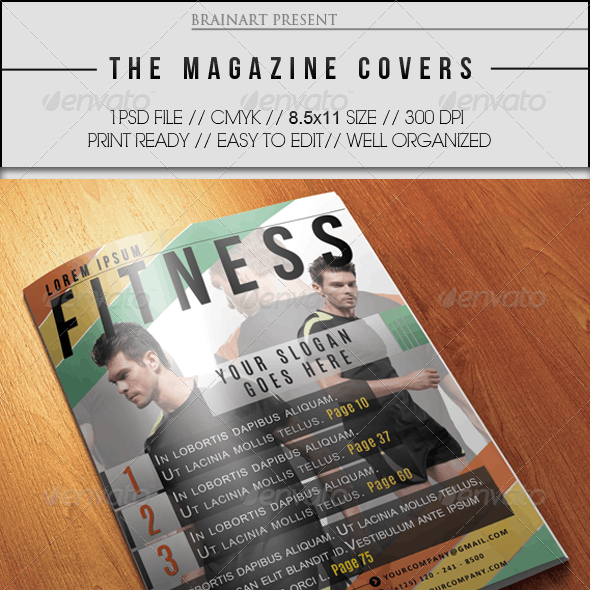 magazine templates with graphics files included photoshop psd page 8