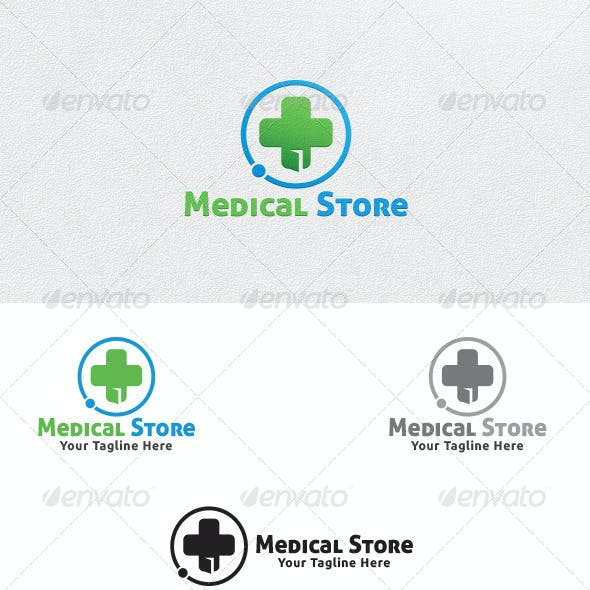 Medical Store Logo Template By Martinjamez Graphicriver