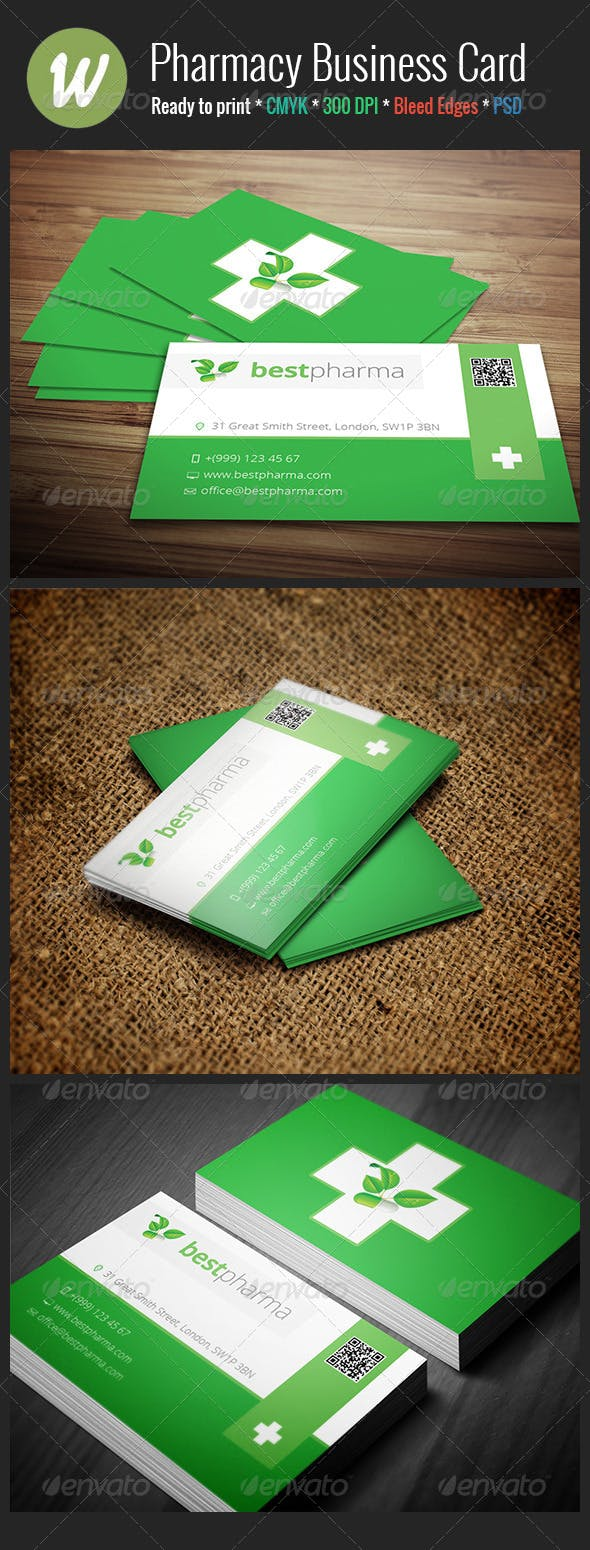Pharmacy Business Card By Crazyleaf Graphicriver