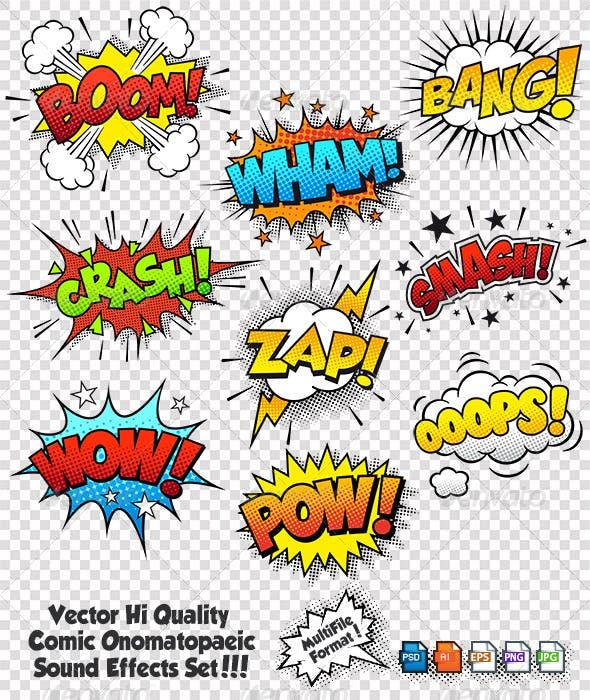 comic sound effects by fourleaflover graphicriver